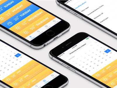 Some more clime screenshots product app design ux ui