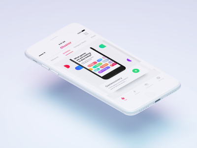 Cluster -  An upcoming app product app design ux ui