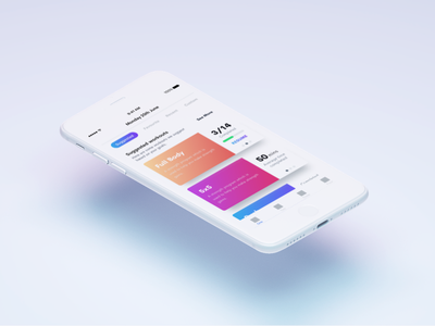 WIP Workout app mockup design ux ui