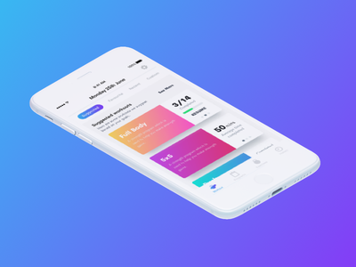 WIP Workout app v2 inspiration flat design design ui ux iphone ios ios app