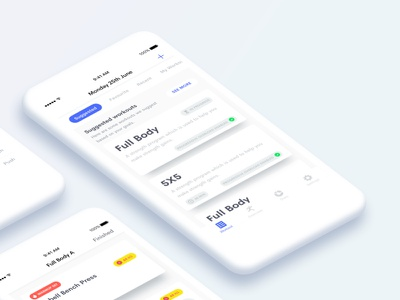 Introducing Lofty flat clean 2018 inspiration upcoming new ux ui app ios fitness workout