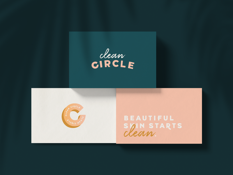 Clean Circle logo skincare brand branding expert graphic designer brand identity design logo design brand identity