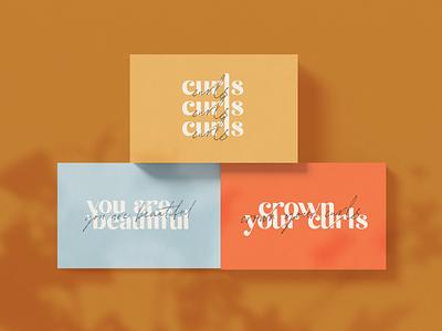 Curly Crown curly hair hair product graphic designer branding expert brand identity design logo design brand identity