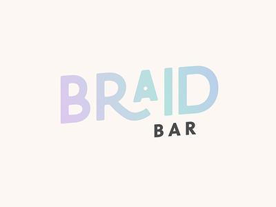 Braid Bar hairdresser branding hair braiding braiding specialist branding expert graphic designer brand identity design logo design brand identity