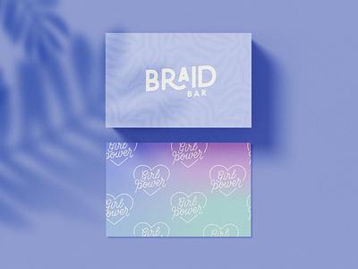 Braid Bar hair salon hairdresser braiding culture braiding specialist branding expert brand identity design logo design brand identity