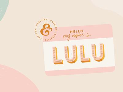 Lulu AlShaheen social media expert content creator sticker graphic designer brand identity design logo design brand identity