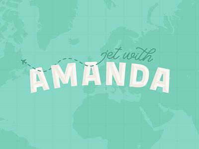 Jet with Amanda travel brand travel blogger branding expert graphic designer brand identity design logo design brand identity