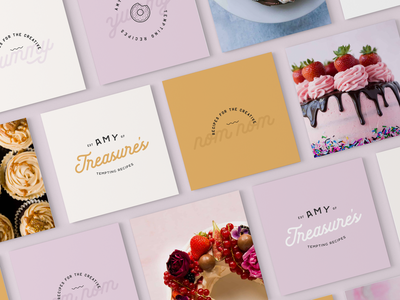 Amy Treasure recipes blog brand foodie branding food blogger recipes blogger graphic designer brand identity design logo design brand identity
