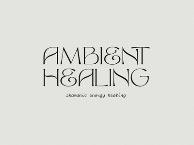 Ambient Healing positive affirmations positive energy shamanic reiki shamanic healing branding expert graphic designer brand identity design logo design brand identity