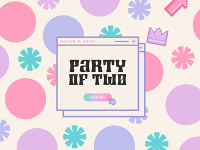 Party of Two podcast brand podcast cover podcast branding branding expert graphic designer brand identity design logo design brand identity
