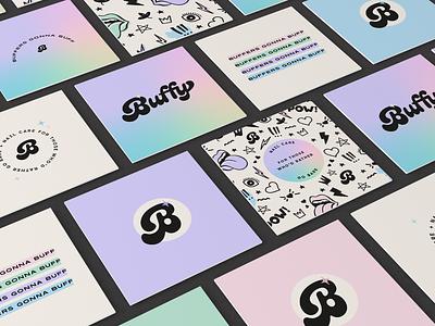 Buffy nail buffer cosmetics brand graphic designer branding expert brand identity design logo design brand identity