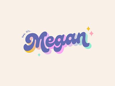Megan colourful brand youtuber branding fun branding graphic designer branding expert brand identity design logo design brand identity