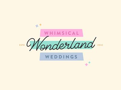 Whimsical Wonderland Weddings retrologo branding expert logo design brand identity weddingblog weddinglogo weddingbranding weddingbrand