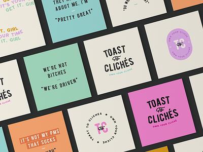 Toast to Clichés handbag brand accessories brand fashion brand branding expert brand identity design logo design brand identity