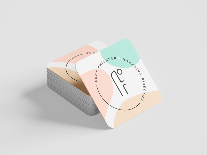 face it. cosmetics brand skincare brand business cards