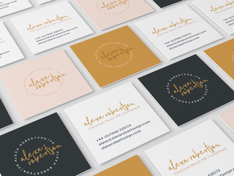 Alexa Robertson. circle logo business cards