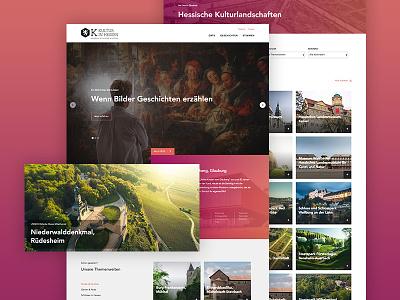 Kultur in Hessen hesse clean flat design webdesign website