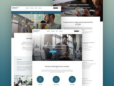 totemo clean flat design webdesign website