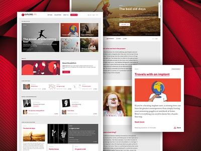 There's more to hear! white red online magazine web design website