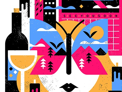 See you Soon screenprint vector screen print texture minimalist canada design illustration