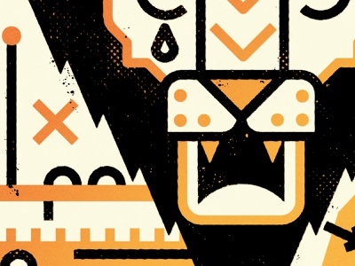 Like A Lion printmaking vector lion wildlife animal minimalist texture minimal design canada illustration