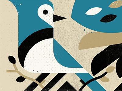 Blue Jay printmaking screenprint film minimalist canada design illustration bird logo minimal texture screen print blue jay bird