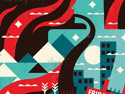 Koyaanisqatsi Poster minimalist movies vector film screen print texture minimal design canada illustration