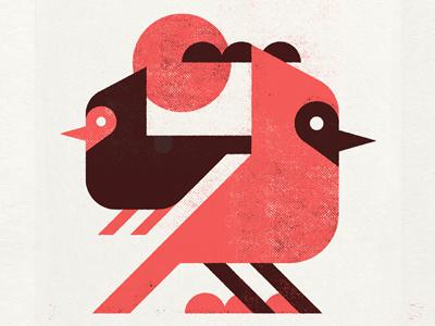 Cardinals bird vector printmaking screen print minimalist texture minimal design canada illustration