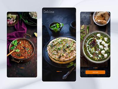 Get Perfect UI Designs to Create a Classic Food Recipe Book App ux design ui ui design ios app app design ios minimalist ux ecommerce app sushi sushi app product app food food app fast food home app