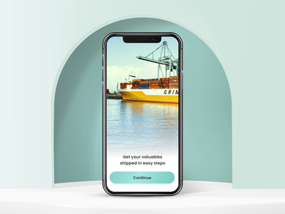 Appealing UI Design to Develop Phenomenal Logistic Services App tracking courier delivery application parcel application design map storage cargo logistic logistics company transport track interface deliver delivery order product app card ui apple logo