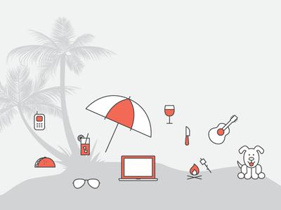 Island island illustration icon mobile innovation lab