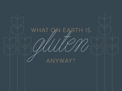 Gluten illustration food blog gluten script type