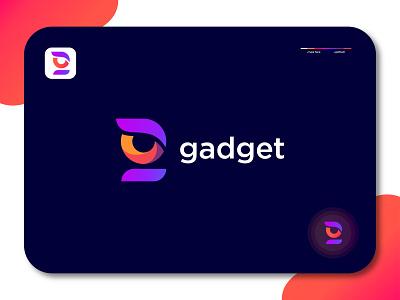 Gadget logo | g logo mark. g monogram. gradient logo logo mark symbol negative space logotype minimalist logo flat logo typography letter monogram symbol mark logo