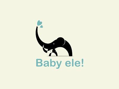 Baby ele! | pet logo design elephant logo. pet logo pet care branding minimal logo minimalist logo illustration logobrand logomark logomaker logoinspiration logodesigns logodesigner logotype logos modern logo logo design logo