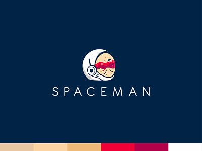 Spaceman vector branding concept identity identity design identity branding flat design illustration vector illustration adobe illustrator space spaceman branding logobrand creative logomark logotype abstract logo design logo