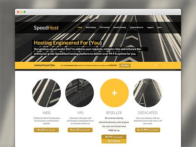Website concept website hosting desktop ui