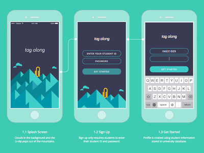 User Onboarding - Sign Up mobile app ios iphone iphone 6 sign up log in ux ui interaction flow onboarding