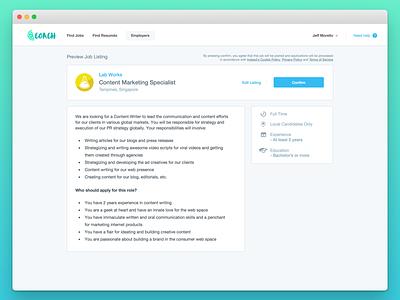 Job Portal web design web information architecture ux interaction design