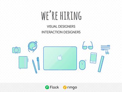 We're Hiring visual design interaction design ui ux web mobile hiring