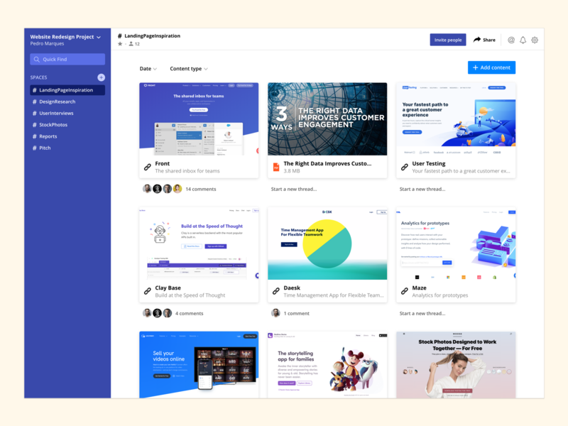 Web App Concept for Creative Minds social flat new modern clean save ux ui collect dashboard web app design creative