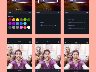 Storymix App colors inspiration instagram images pics flat edit modern iphone clean ux ui sharing photos videos social app mobile