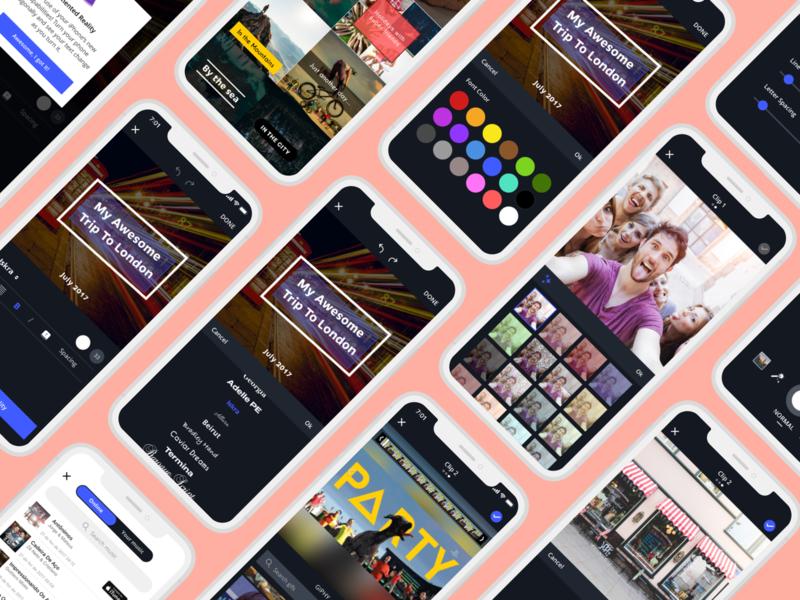 Storymix App colors inspiration instagram images pics flat edit modern iphone clean ux ui sharing photos videos social app mobile