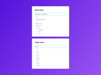Design System: Multi and single select