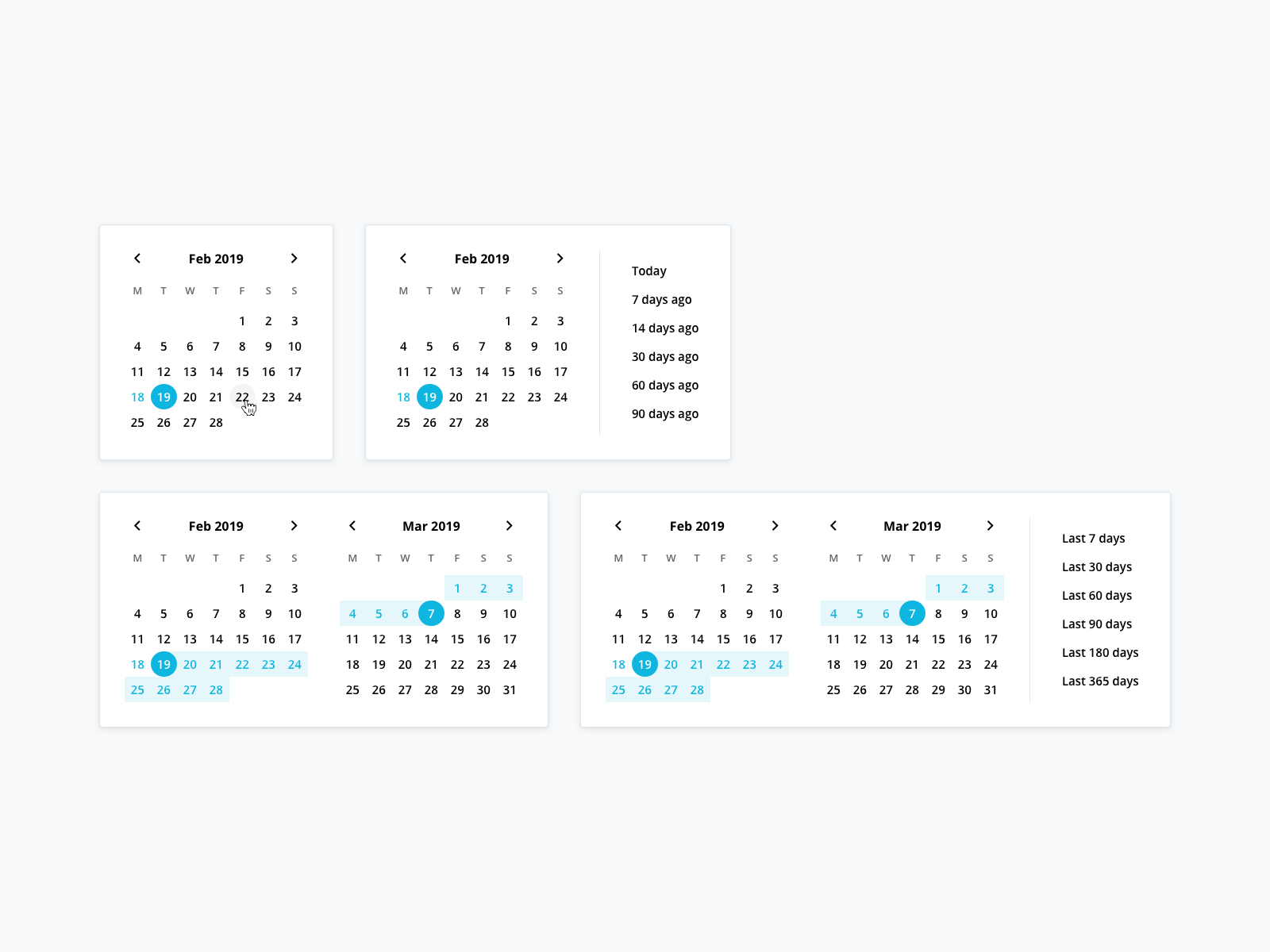 Date picker dribbble