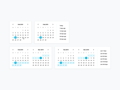 Design System: Date Pickers ui library interface minimalist clean date selector date range design team personio date picker ui design system library components
