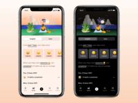 Tangerine - Insights and Stats simple flat stats organize routine emoji scene ios apple app tracker mood habit illustration ux ui mode light dark insights