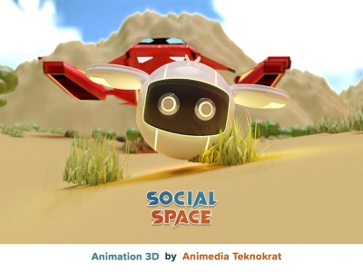 """Animation 3D """"Social Space"""" motion graphics graphic design 3d animation"""