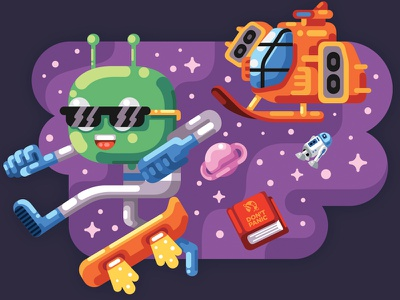 Liferay Mascot games illustration toe jam  earl hitchhikers guide to the galaxy