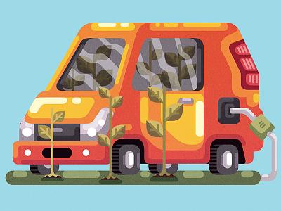 Biofuel magazine adobe illustrator graphic editorial illustration