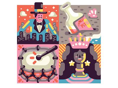 Pocket Carnaval carnaval brazil vector illustration poster